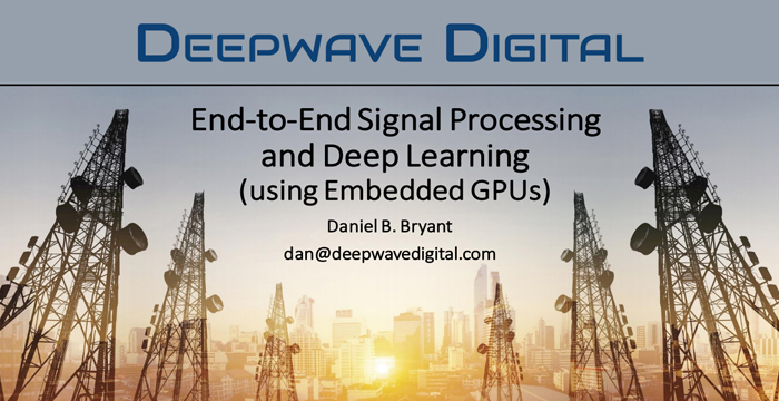 Deepwave's Presentation at GTC DC 2019