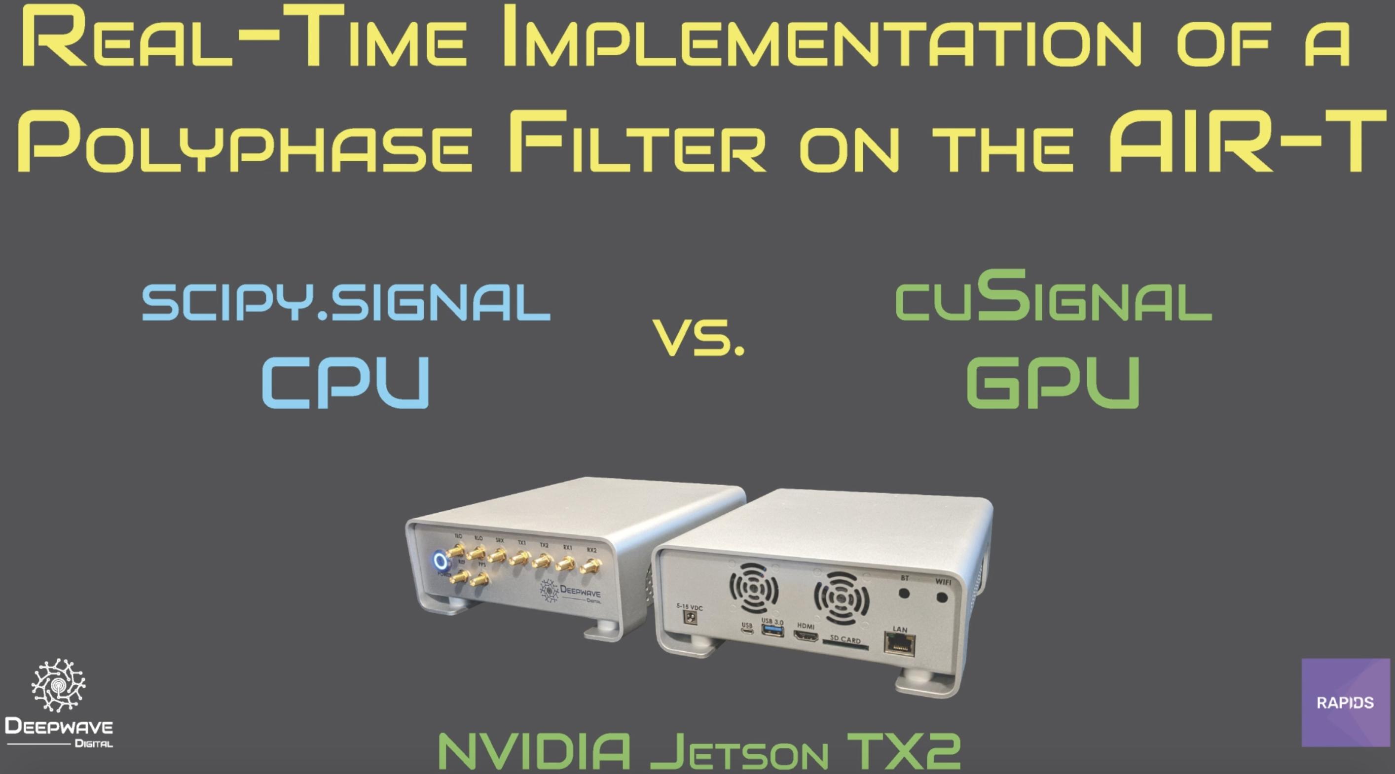 Deepwave and RAPIDS Team Collaborate on cuSignal 0.13